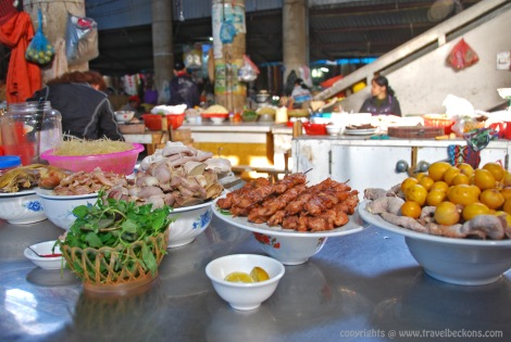 Breakfast at Sapa Town market