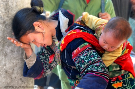 Sapa woman and son