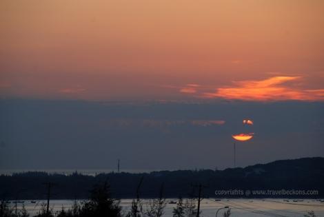Sunrise at Mui Ne red sand dunes
