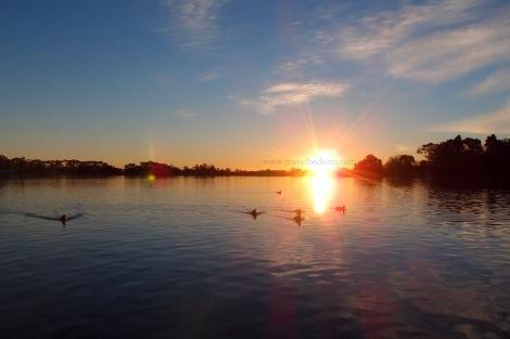 sunset at hamilton lake