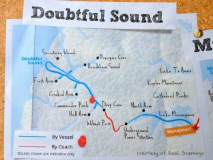 Doubtful Map/itinerary