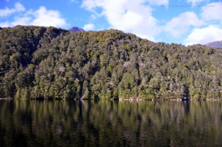 Beautiful reflection at Lake Manapouri
