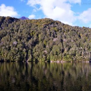 Beautiful reflection at Lake Manapouri