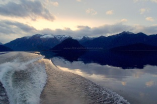 Sailing along Lake Manapouri back to Pearl Harbour