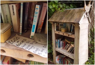 Along the road stands a public bookshelf - It's all a matter of trust. Loving this free-spirit and trusting nation.
