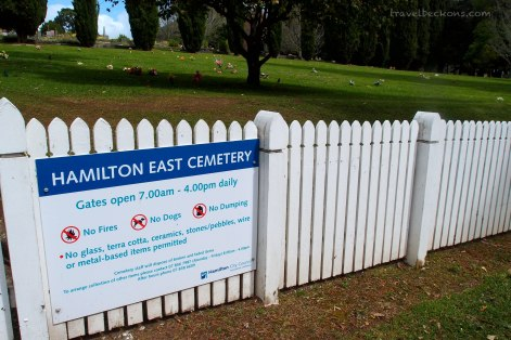 Entrance of Hamilton East Cemetery