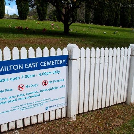 Entrance of Hamilton East Cemetery