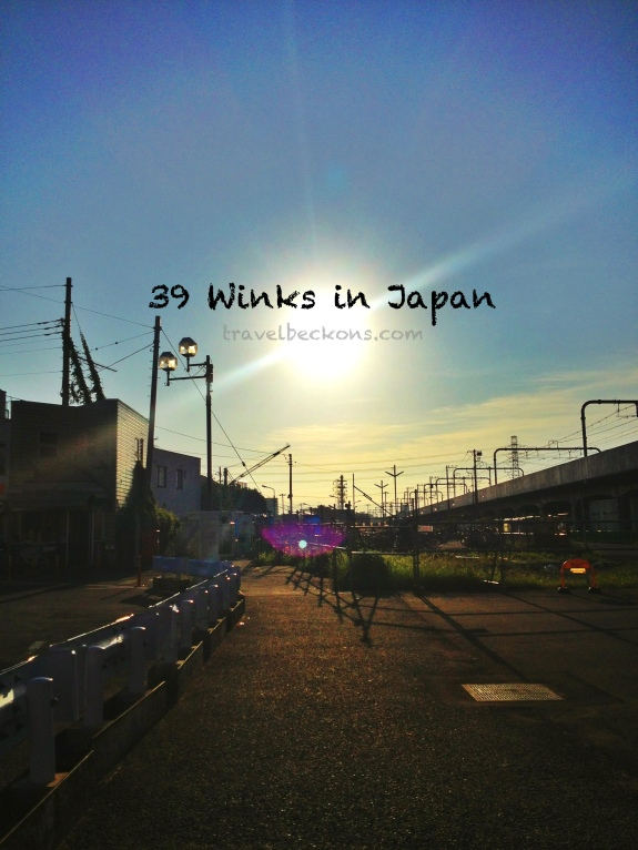 39 winks in Japan. Missing Higashi Koganei.