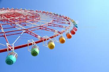 A ferris wheel at Odaiba, Tokyo Bay.