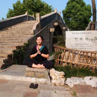 Meditation at the ancient town by the river